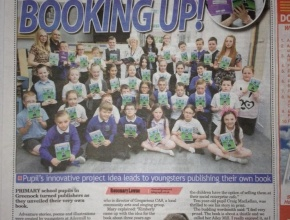 22nd june newspaper Aileymill School P6 embarked on a writing stories